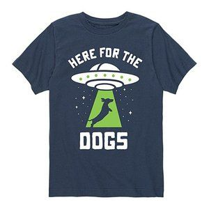'Here for the Dogs' U.F.O. Youth Tee